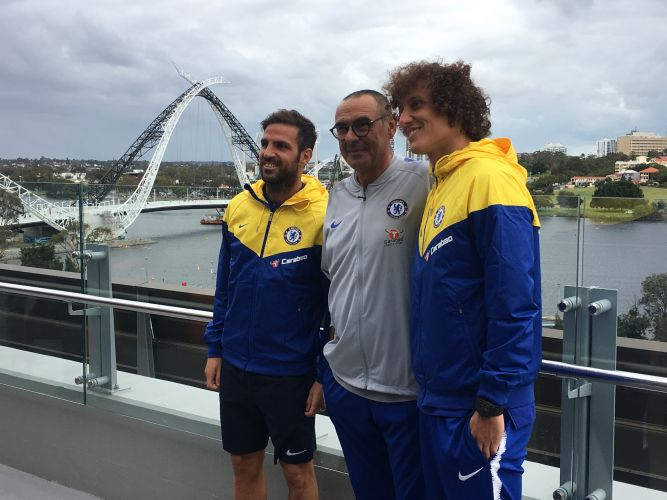 Chelsea touch in down in Perth ahead of Glory clash