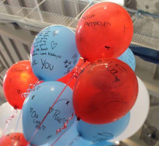 Balloons for Bella Petersen at Ellenbrook Secondary College.
