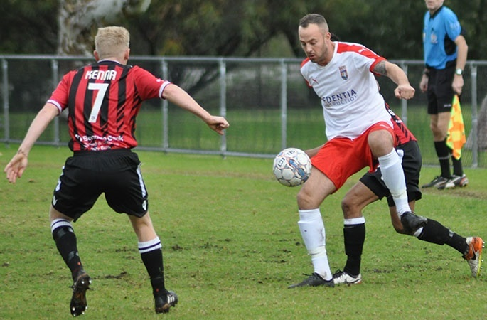 Armadale and ECU Joondalup played a 3-3 draw on Saturday. Photo by Peter Simcox.
