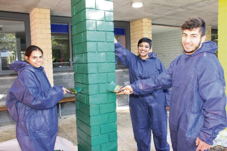 Google Australia Employee Karishma Suresh, Balga SHS Year 10 student Kylie Mears and Year 12 student Antreas Christoforou.