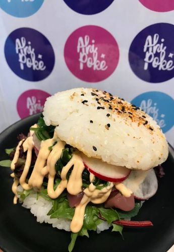 Ahi Poke's one-off sushi burger will be available on Thursday, July  26 for one day only.