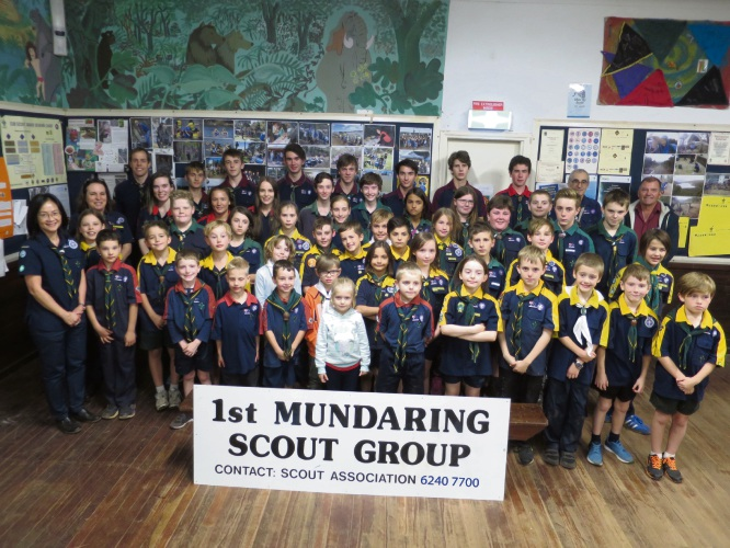 The 1st Mundaring Scout Group with group leader Yvonne Chow far left.