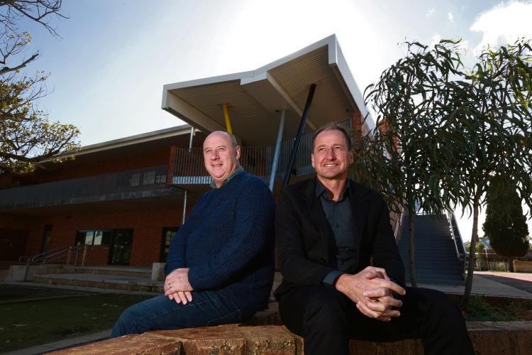 Highgate Primary School Principal Stephen Ivey with Adrian Iredale, director iredale pedersen hook.