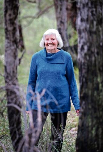 Ninety-year-old Pat McIntyre rarely misses her weekly walk. Photo: David Baylis