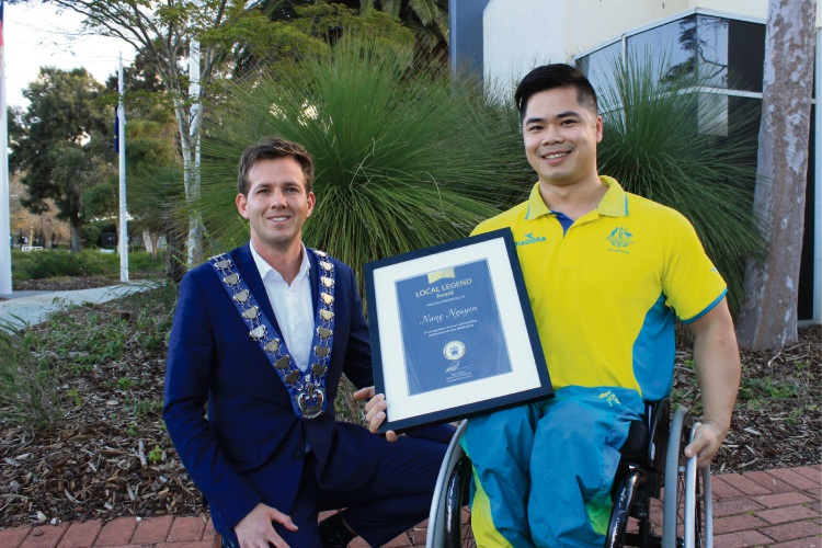 Commonwealth Games hero is Mandurah's local legend for July