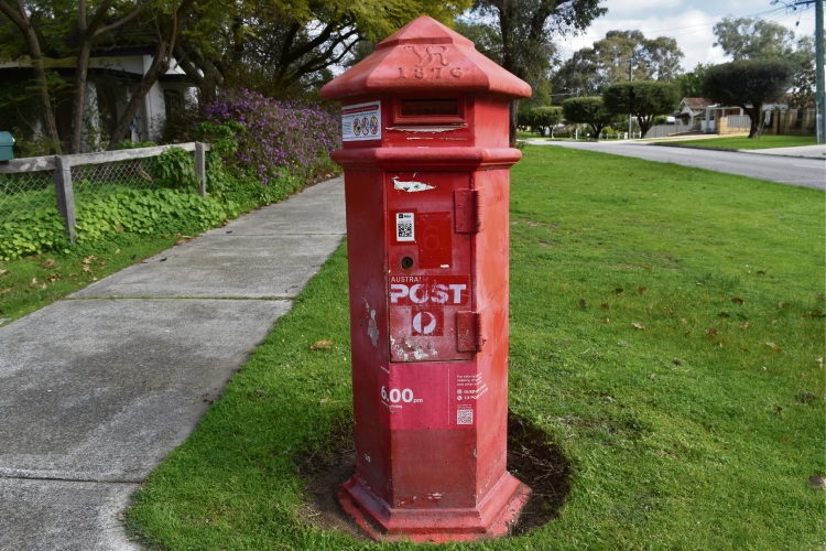 The post box in Bassendean.