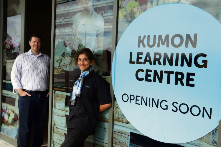 Kumon Australia's Neville Black and instructor Rekha Sekhon at the Banksia Grove centre. Picture: Martin Kennealey d485144