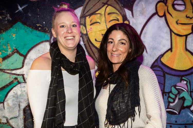 (Left to right) Alysia Pekel and Gemma Osborne from Western Cabinets at the Community News client presentation.
