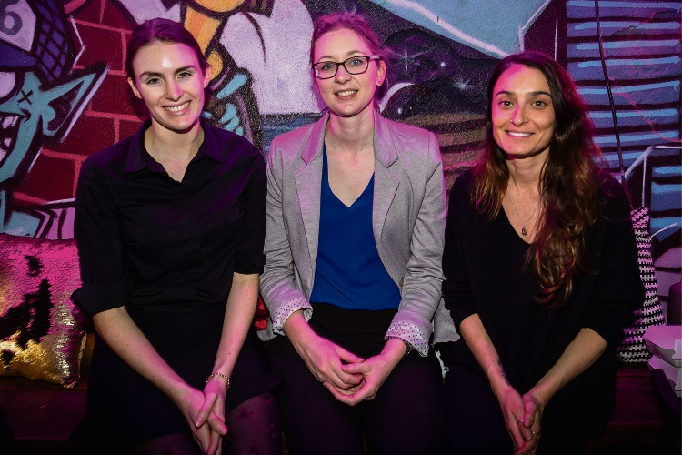 (Left to right) Laura Fiegert, Rebecca Turnor and Alesha Saliba from Automotive Holding Group at the Community News client presentation.