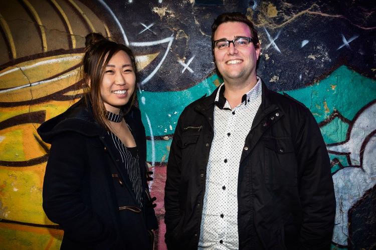 Yang Liu and James Lally from John Hughes Group at the Community News client presentation.