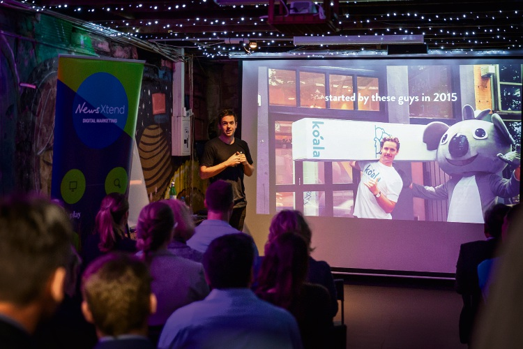 Koala's creative director, Charlie Gearside, talks to Community News clients about his brand's marketing successes. Pictures: WILL RUSSELL