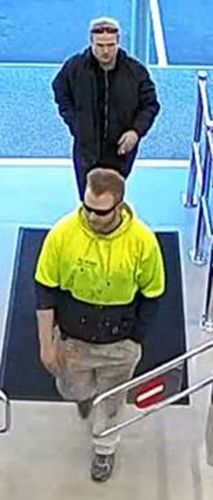 The CCTV image police have released of two men they believe can help them.