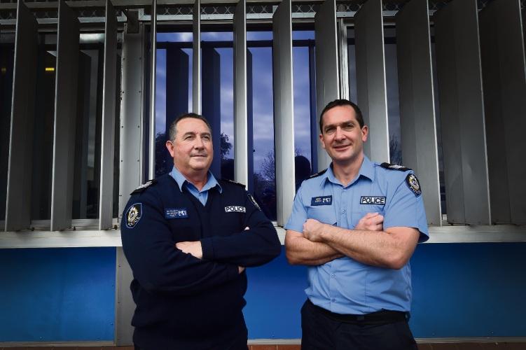 L to R - Senior Sergeant Ian Francis & Sergeant Gareth Reed. Picture: Jon Hewson