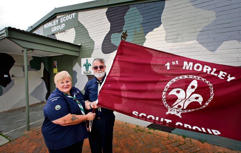 L-R: Barbara Hunt (Group Leader Morley Scout Group) and Steve Hunt (Regional Chief Commissioner Perth North Region), seen here at the Morley Scout Group. Morley Scouts are looking to apply for a Better Bayswater grant which opens on August 1. Photo: David Baylis