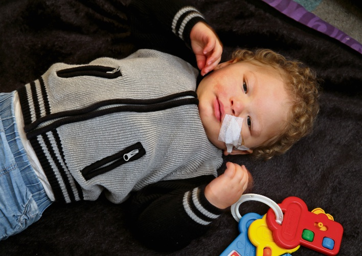 Zavier Elward (2) of Midland. Zavier is now getting CBD Oil treatment to help with his seizures and West Sundrome symptoms. The results have been incredible but now parents Shaileen and Harley need financial help with the treatment costs.