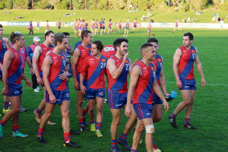 West Perth walk off victorious over Peel Thunder at Joondalup Arena on Saturday. Picture: J Bianchini