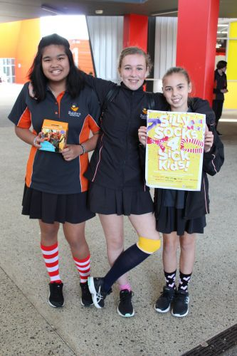 Baldivis Secondary College students Marie Eje, Madison Comb and Summer Dixon.