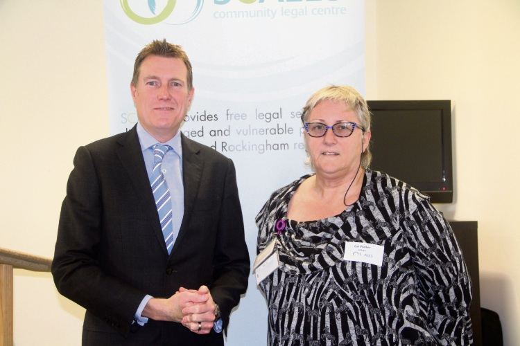 Federal Attorney General Christian Porter with SCALES Managing Director, Gai Walker.