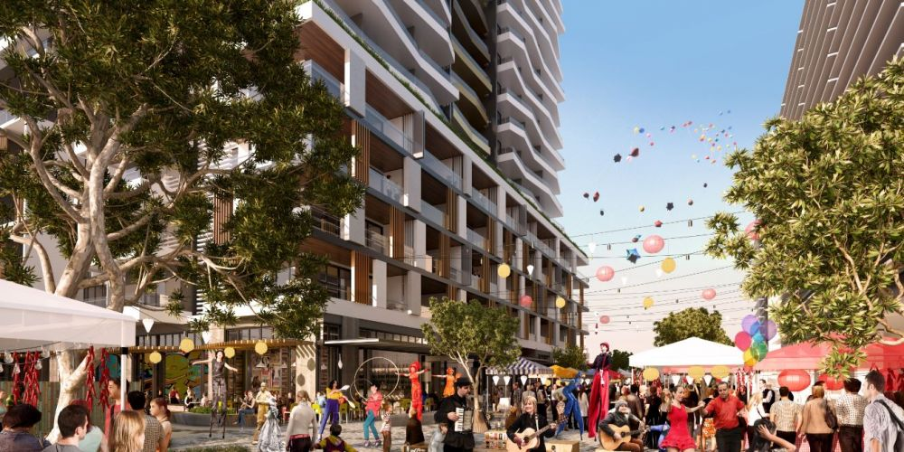 An artist's impression of a potential development for the Subiaco Pavilion Markets site.