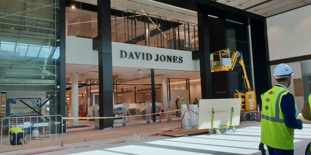 The soon to be opened David Jones store at Westfield Carousel. Picture: Ben Smith.