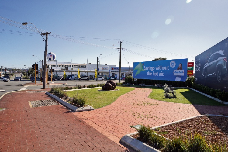 Main Street and Scarborough Beach Road billboards. Picture: Martin Kennealey.