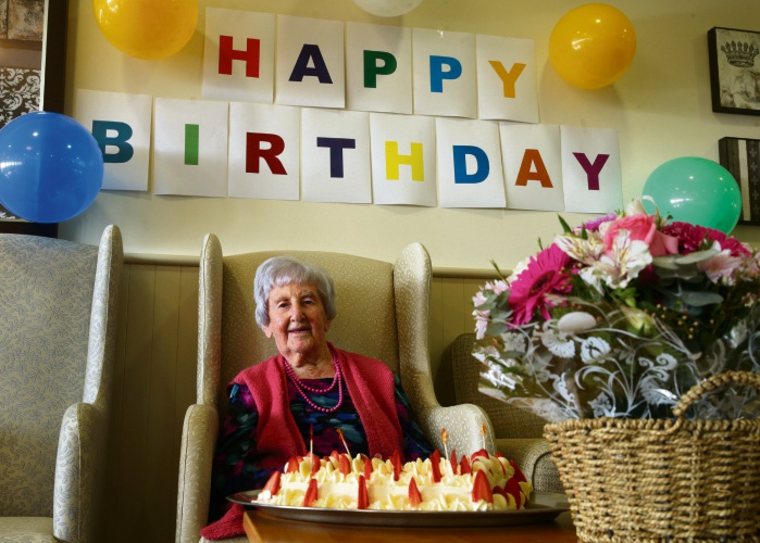 Ruby Roberts has celebrated her 105th birthday. Picture: Martin Kennealey