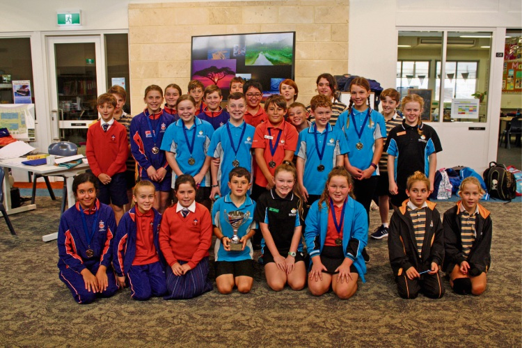 Year 5 and 6 students who took part in the Northern Bright Stars Academic Challenge.