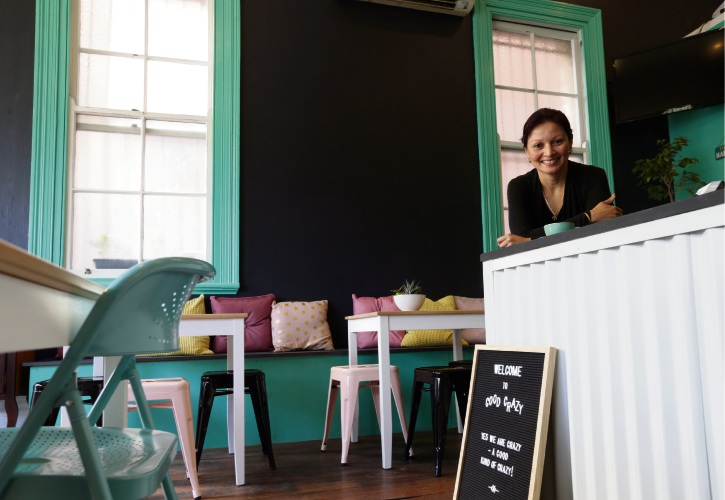 Good Crazy Cafe owner Marie Merrin. Picture: Martin Kennealey d485427