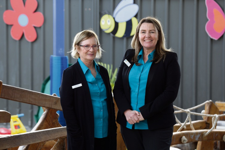Sisters Angela Palmer and Sam Morrell started Mindarie Keys Early Learning Centre in 2003. Picture: Martin Kennealey d485107