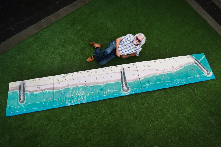 John Major's art of the coast is 5m long. Picture: Andrew Ritchie.