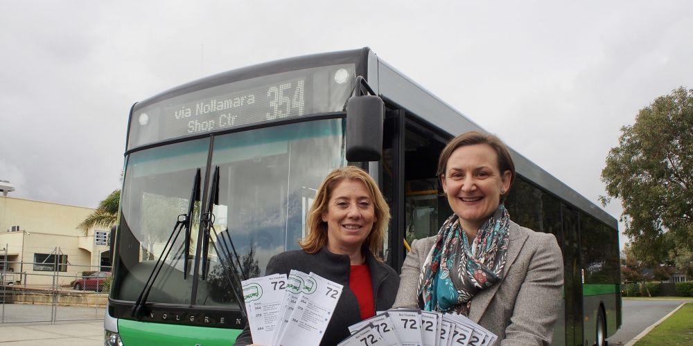 Transport Minister Rita Saffioti and Morley MLA Amber-Jade Sanderson.