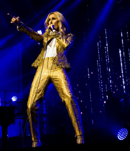 Celine Dion performs at Perth Arena. Picture: Ian Laidlaw.