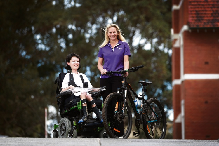 MDWA chief executive Hayley Lethlean will ride for Perth Modern School student Reuben Cheuk. Picture: Andrew Ritchie
