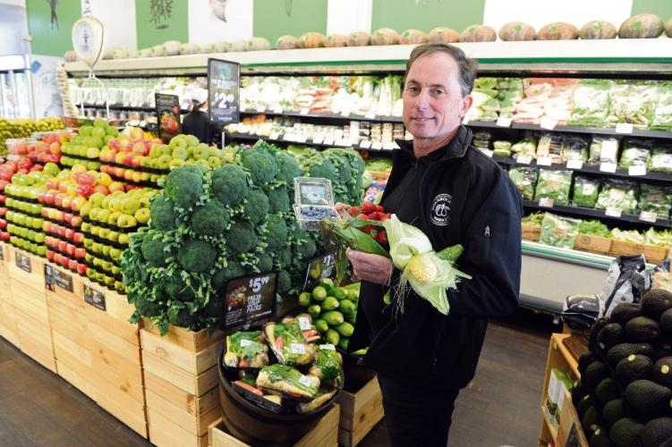 Swanbourne Market IGA X-press owner Steve Carre. Picture: Jon Bassett