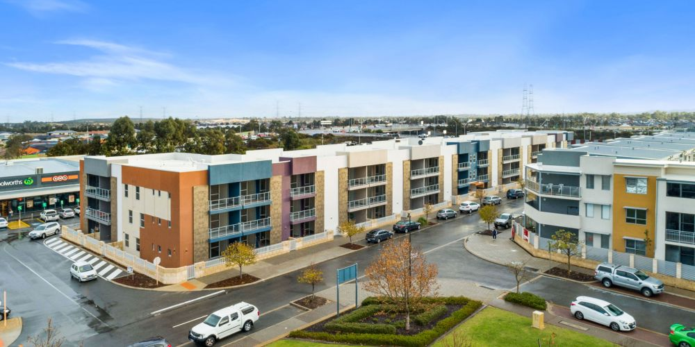 The completed Sixty Flourish apartments in Atwell.