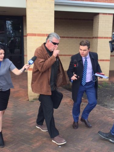 Warren Jeater outside Midland Magistrates Court after the guilty plea. Picture: Lauren Pilat.