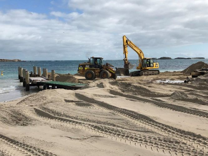 Demolition works start on old Mersey Point Timber Jetty