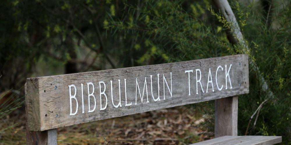 Bibbulmun Track sign in Kalamunda.