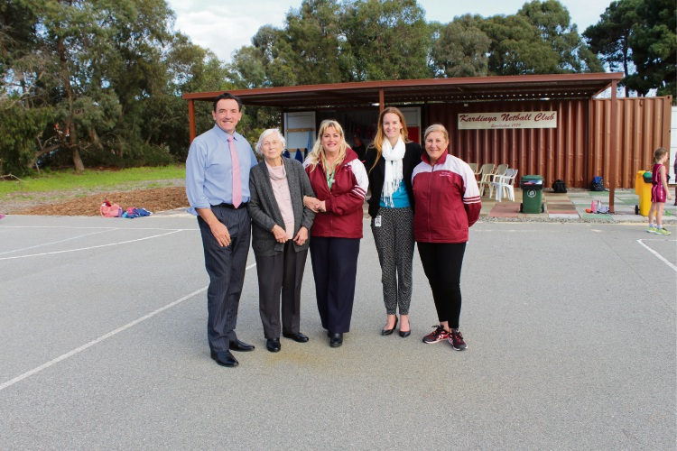 Kardinya Netball Club celebrate the opening of new facilities
