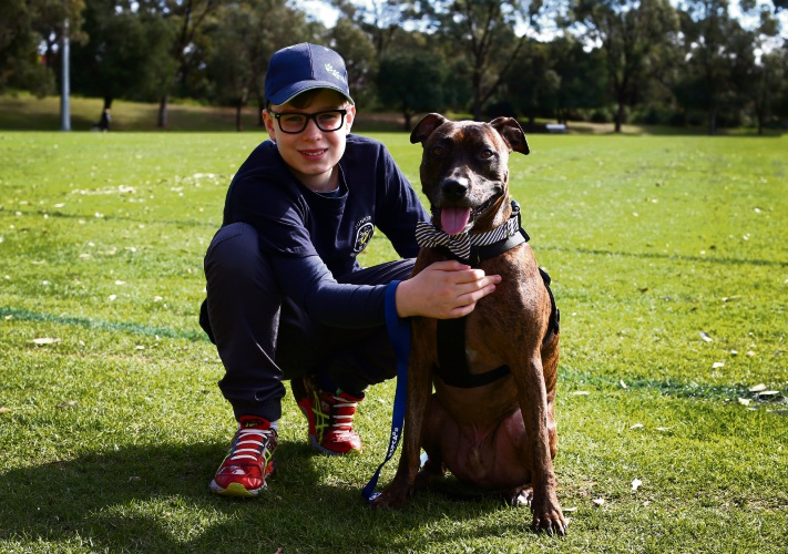 Lachlan and dog Zappa will be at RSPCA WA's Community Action Day at Anthony Waring Park in Clarkson.