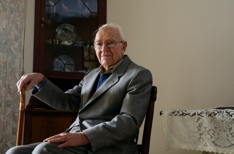 Hugh Wray (Merriwa) celebrated his 100th birthday this week. Picture: Martin Kennealey