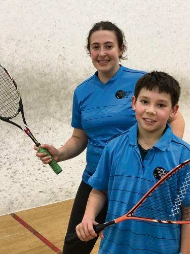 Maddington/Gosnells Squash Club's Aliah al Shabib and Daniel Marsh.