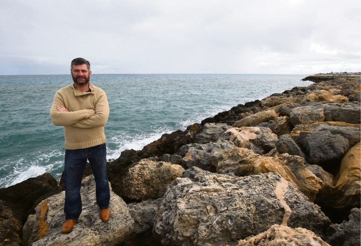 Steve Lennox, owner of Mindarie Charters proposes a Artificial Reef for the Mindarie Marina. Photo: Matt Jelonek