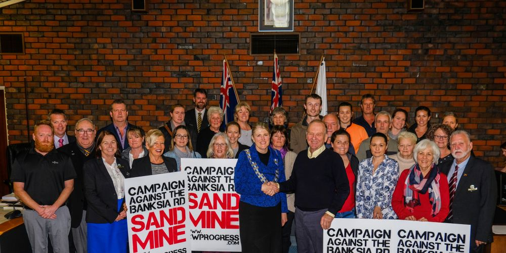 The group shot at the City of Kwinana's meeting on Wednesday night. Photo: Duncan Dodd.