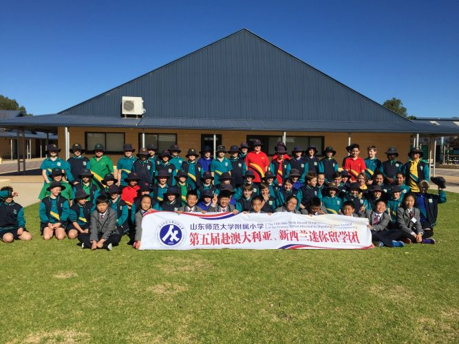 Chinese students visited Two Rocks Primary School recently.