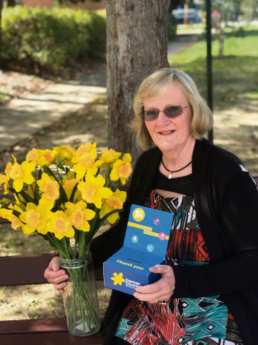 Lindy Kerr, of North Beach, is volunteering on Daffodil Day.