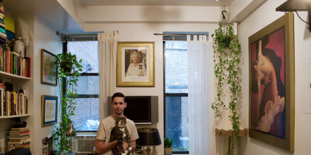 A photo of Queen Elizabeth II graces the wall of Nicholas Lord's New York apartment.