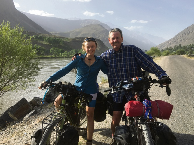 Jessica and Peter Cappendell on the Pamir Highway.