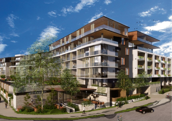 An artist's impression of the Karrinyup apartments.