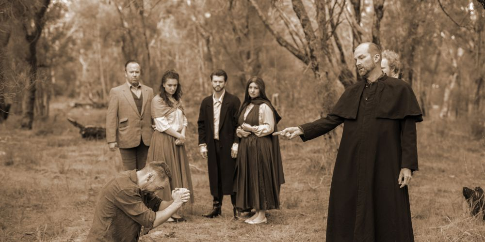 Judge Danworth brings fast retribution to John Proctor as the people of Salem look on.